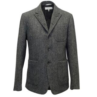 Rag & Bone Men's Grey Herringbone Tweed Blazer