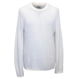 Acne Men's Cream Mohair Jumper