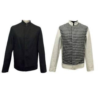 Balenciaga Men's Two Sided Jacket in Black and Cream