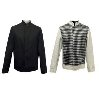 Balenciaga Men's Reversible Jacket in Black and Cream