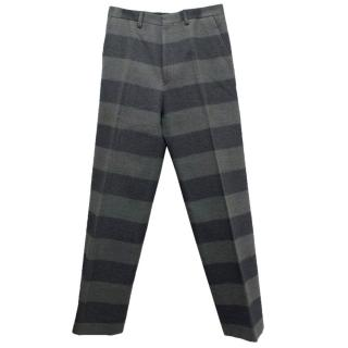 Lanvin Men's Striped Wool Blend Trousers