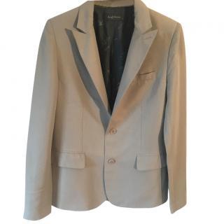Zaria & Voltaire Virginie pale blue-grey viscose linen jacket