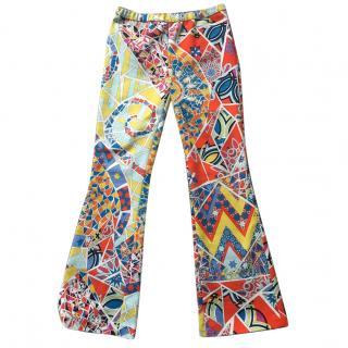 Emilio Pucci Multicoloured Printed Trousers S