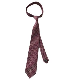 Gucci Silk Logo Pink and Red Tie