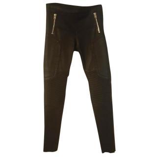 Joseph Leather biker trousers