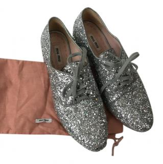 Miu Miu Glitter Derbies