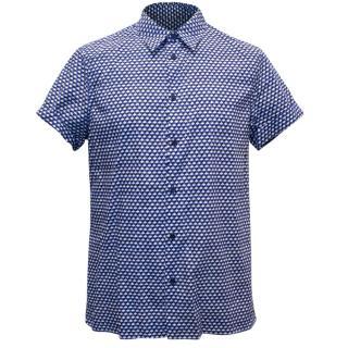 Marni Men's Blue and Black Illusion Short Sleeved Shirt