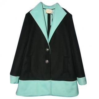 Fausto Puglisi Womens Wool and Cashmere Silk Coat