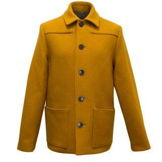 Acne Men's Yellow Lambswool Jacket