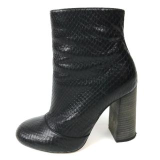 Chloe Python Ankle Boots