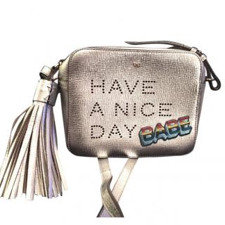 Anya Hindmarch Women's Metallic Small Have A Nice Day Bag