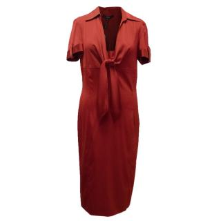 Gucci Red Silk Blend Dress