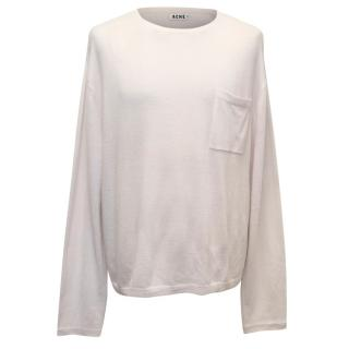 Acne Men's Cream Cashmere Jumper