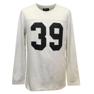 A.P.C Men's Sweatshirt with '39' Printed on the Chest