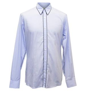 Dries Van Noten Men's Blue Cotton Shirt