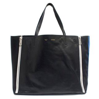 Celine Black Leather Shopper Bag
