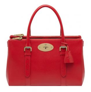 Mulberry Double Zip Bayswater in Red