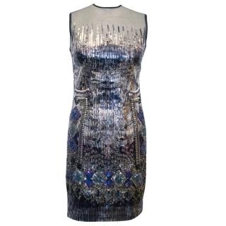 Falguni and Shane Peacock Embellished Fitted Dress