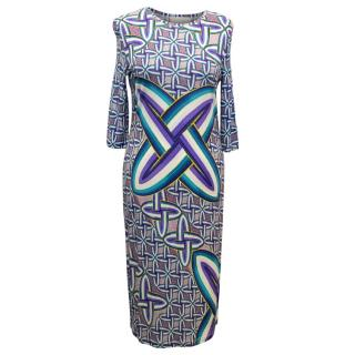 Peter Pilotto Multicolour Graphic Printed Fitted Dress