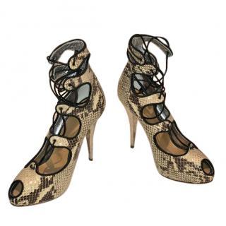 Giuseppe Zanotti Snakeskin Heels