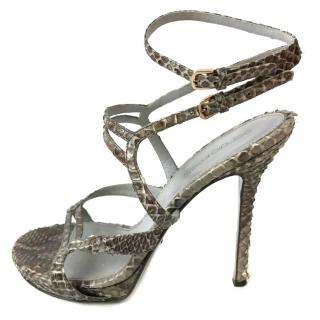 Sergio Rossi Python Sandals