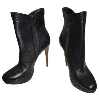 Elie Tahari Black Leather Boots
