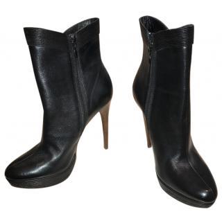 Elie Tahari Black Leather Boots