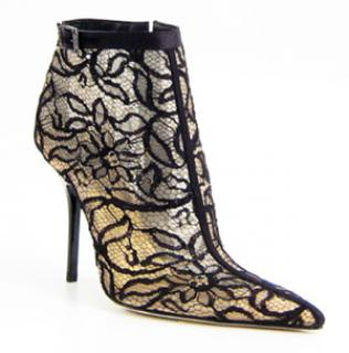 Rene Caovilla Lace Ankle Boots