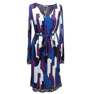 Emilio Pucci Printed Long Sleeved Dress