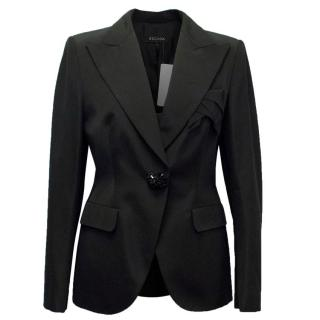 Escada Black Blazer with Black Crystal Embellishment