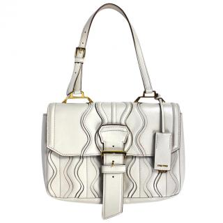 Miu Miu Leather Handbag in Ivory