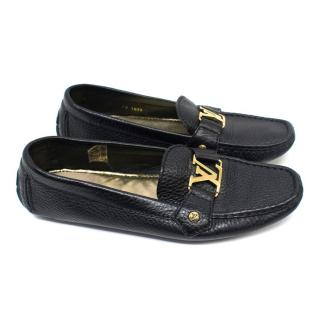 Louis Vuitton Black Leather Loafers