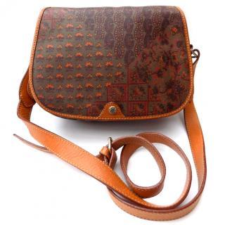 Escada Vintage Brown / Khaki / Tan Crossbody / Shoulder Bag.