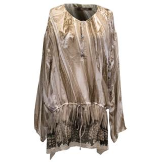 Roberto Cavalli Multicolour Printed Silk Top