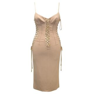 Dolce and Gabbana Nude Corseted Dress