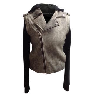 Alexander Wang Hooded Leather Biker Jacket