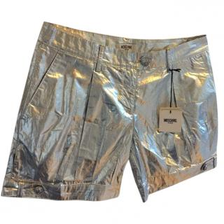 Moschino silver shorts
