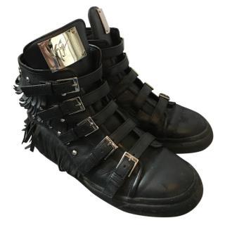 Giuseppe Zanotti Black High Tops Size 5.5