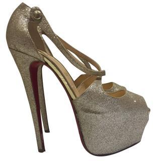 Christian Louboutin Gold Platform Heels