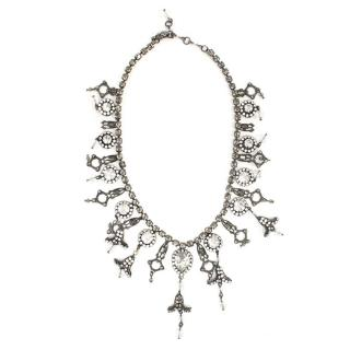 Erickson Beamon Gunmetal Crystal Embellished Necklace