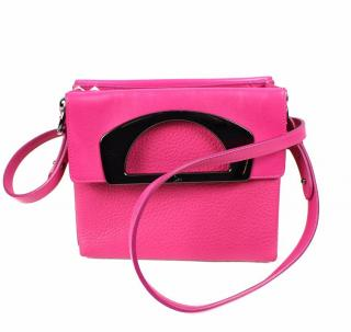 Christian Louboutin Mini Passage Bag In Pink Grained Leather