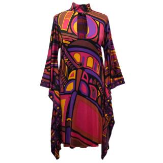 Emilio Pucci Printed High Neck Dress