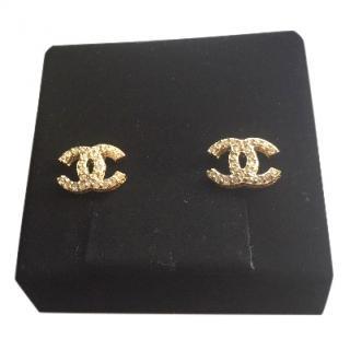 Chanel Double C Earrings