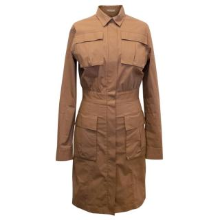 Bottega Veneta Brown Cotton Dress with Pockets