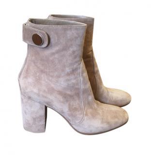 Gianvito Rossi beige suede boots