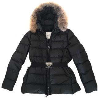 Moncler dark grey jacket with detachable fur collar