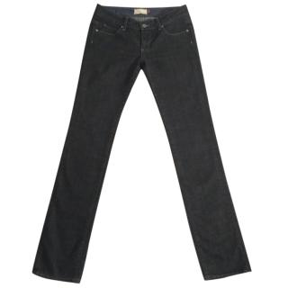 Paige Blue Heights charcoal grey slim fit stretchy jeans