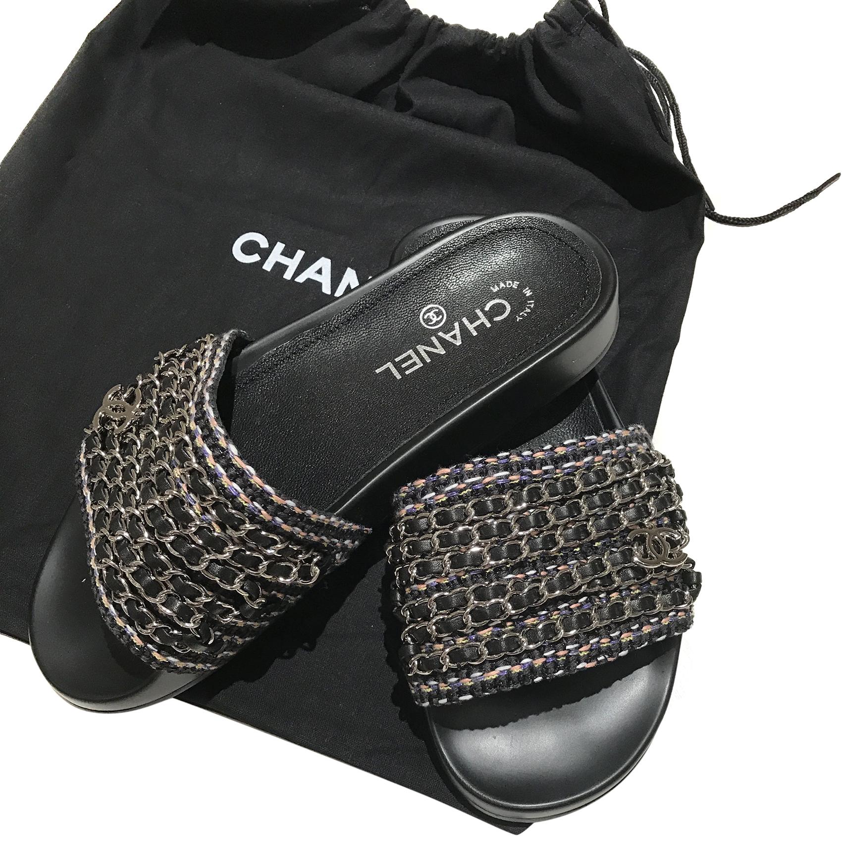 1fe89c96facd Chanel Tropiconic Chain Slides Mules