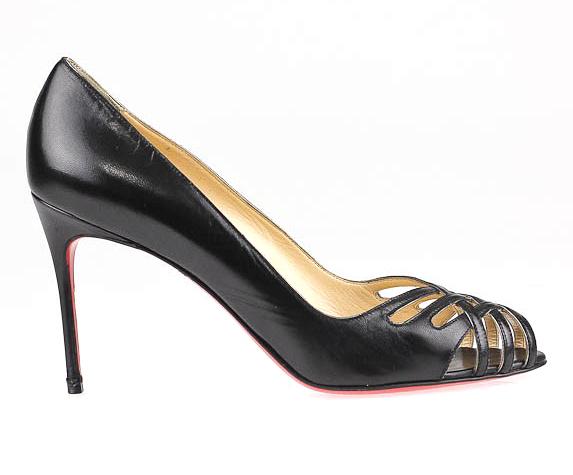 Christian Louboutin Black Patent Croizizi Heels