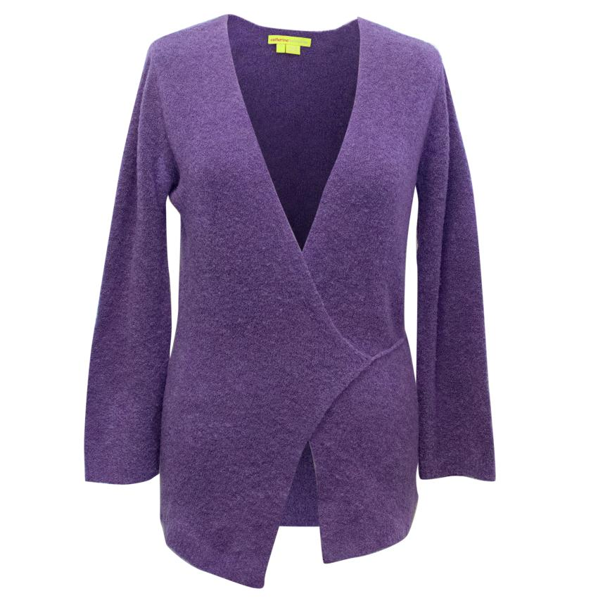 Catherine Malandrino Purple Wrap Jumper